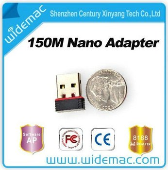 Realtek 8188cu mini usb adapter nano card/mini wifi adapter.