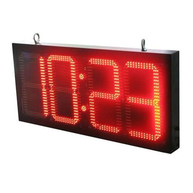 Led Digital Wall Clock Battery Operated Led Digital Wall Clock
