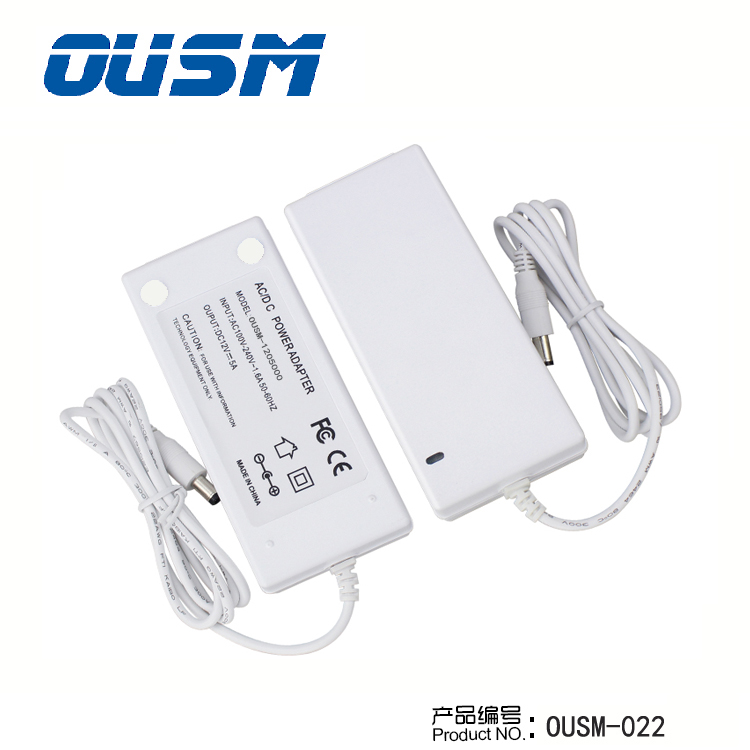 OUSM Supply High Quality Standard 0.5A A 2A 3A 5A Charging Power Adapter for Laptop with KC CUL CE CCC FCC ROHS SAA Approved