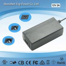 24W AC DC Switching Adapter Charger/Power Supply in 16, 17, 18, 19, 20, 21, and 21.6V