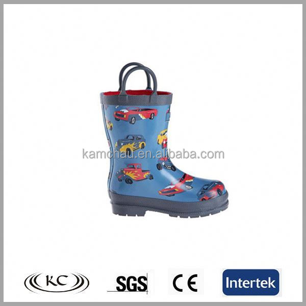 high quality usa car print soft rubber boots