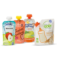 Manufacturer High Quality Doypack Organic Food Packing BPA Free Custom Brand Baby Food Packaging Spout Pouches With Cap