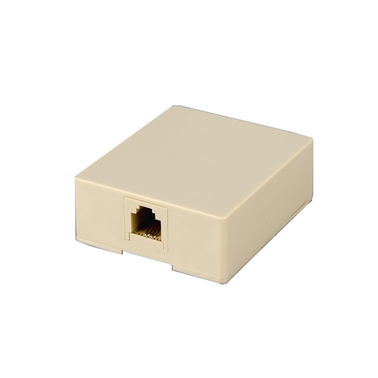 Cheap price rosette telephone RJ11 RJ45 surface box