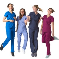 Hospital Uniform Doctor Nurse Medical Scrubs Suit