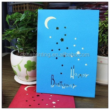 Foil Silver Paper Greeting Card 3D Style Birthday Gift DIY