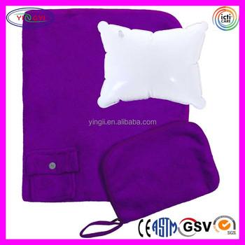 Bulk Throw Blankets Mesmerizing C60 Airplane Travel Set Fleece Throw Blanket And Pillow Bulk