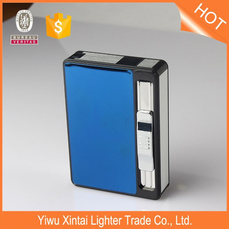 Wholesale novelty promotional logo print metal cigarette case with custom logo