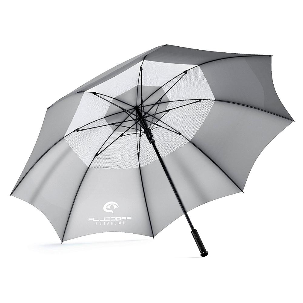 Chinese supplier quality products 54Inch Clear Windproof Folding Large Travel Golf Double Canopy Stormproof Monsoon Umbrella