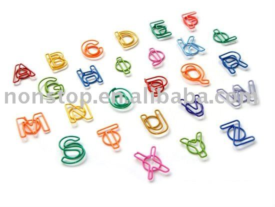 Letter Shaped Paper Clips
