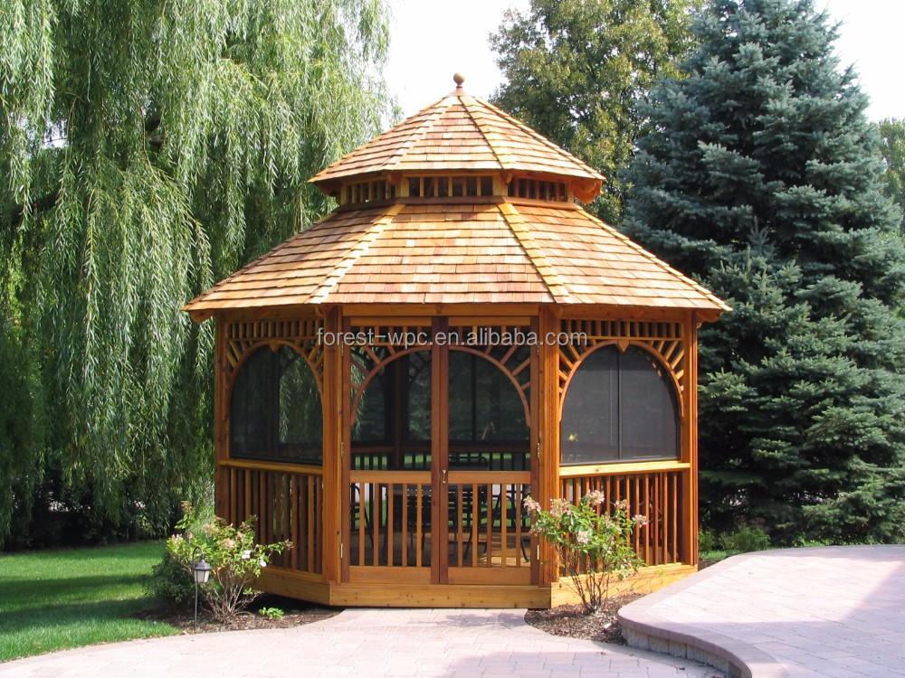 utilizado wpc gazebo gazebo gazebos de madera para la venta a la venta para el coche