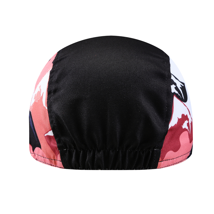 Wholesale OEM breathable sublimation printed custom coolmax  free size cycling cap