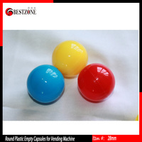 58mm plastic toy capsules for decoration promotion gift