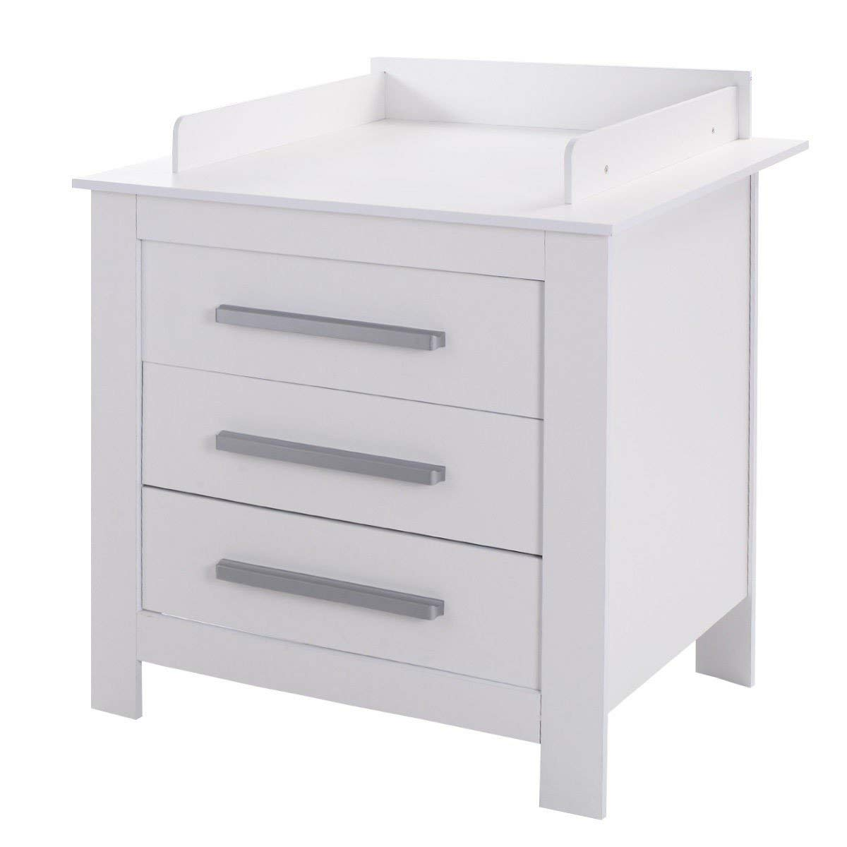 Get Quotations · Svitlife White Baby Changing Table Dresser With 3 Drawers  Changing Dresser Table Baby Drawer Nursery White