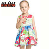 Hot sale Baby Toddler Girl Dress Fashionable Printing Sleeveless Dress for Summer 2-8 Years