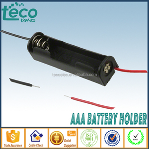 TBH-3A-1C-W Ningbo TECO 1.5V Lead Wire Battery Holder AAA