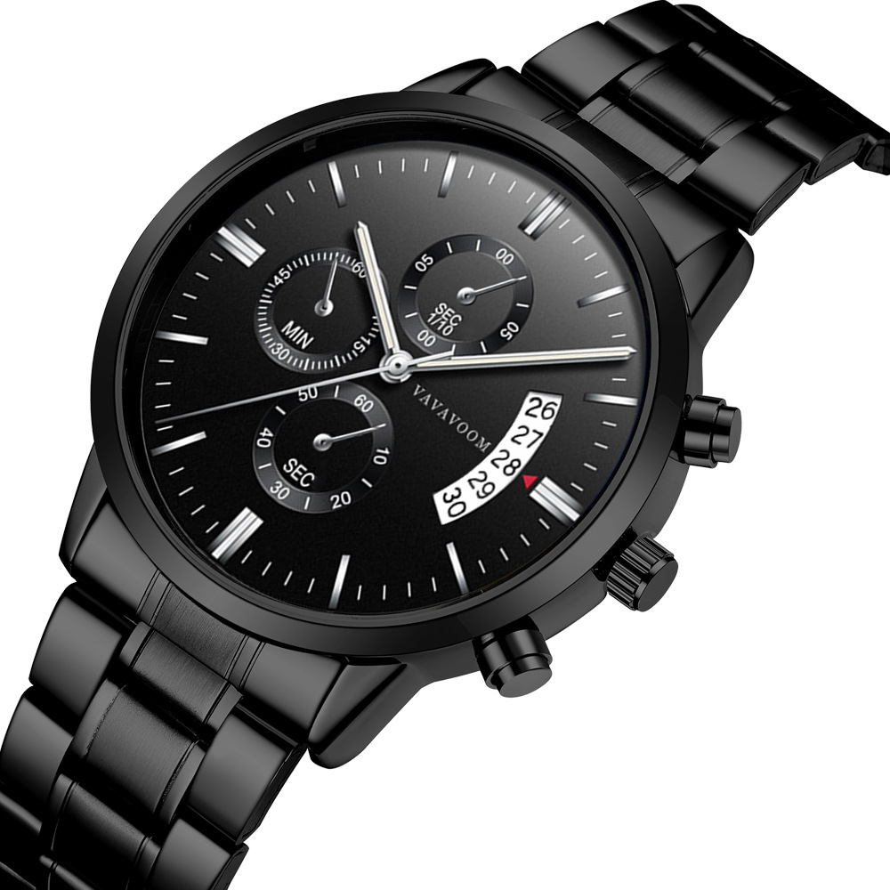 Men's 3atm water resistant quartz watches stainless steel watch band Business wristwatch фото