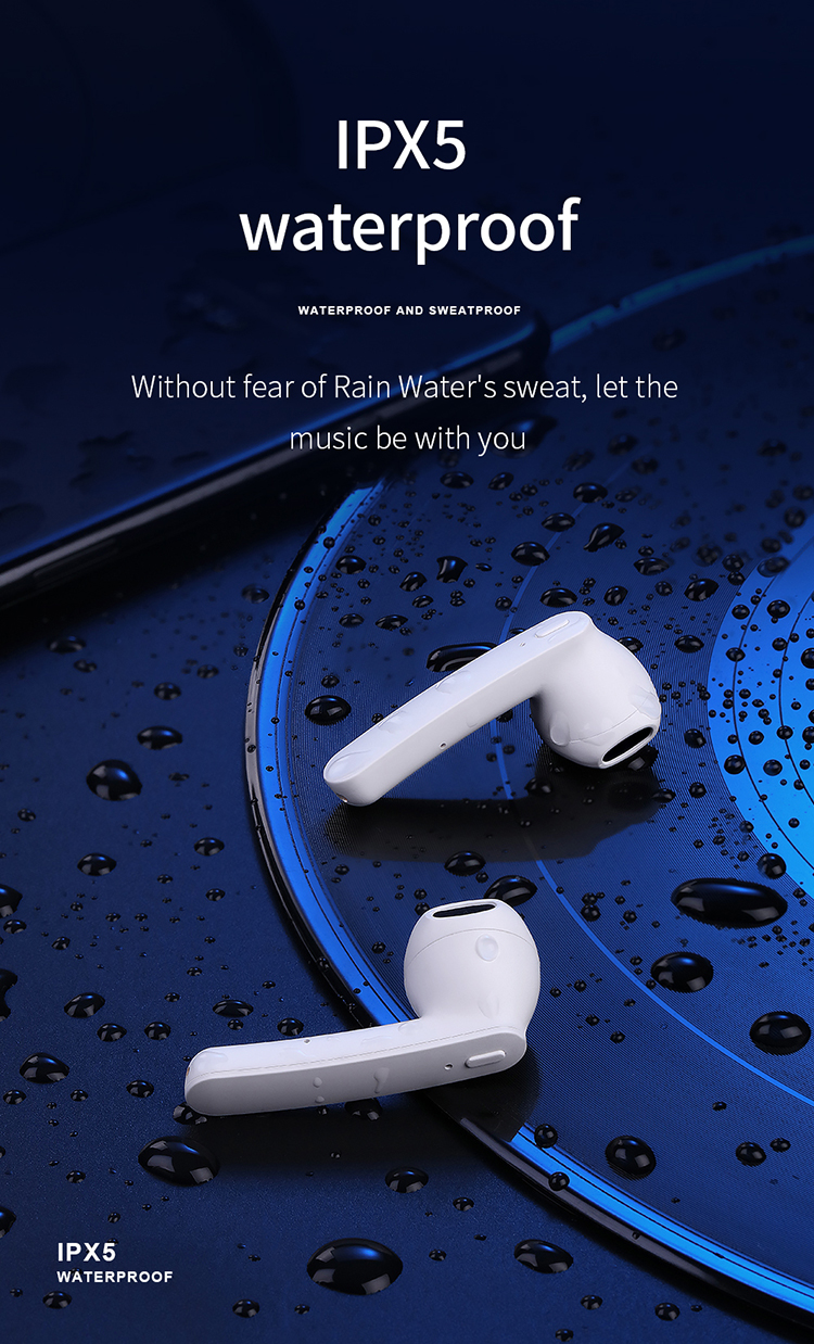 Gigi Biru Handsfree Tws Earbud Wireless Earphone Headphone untuk Apple
