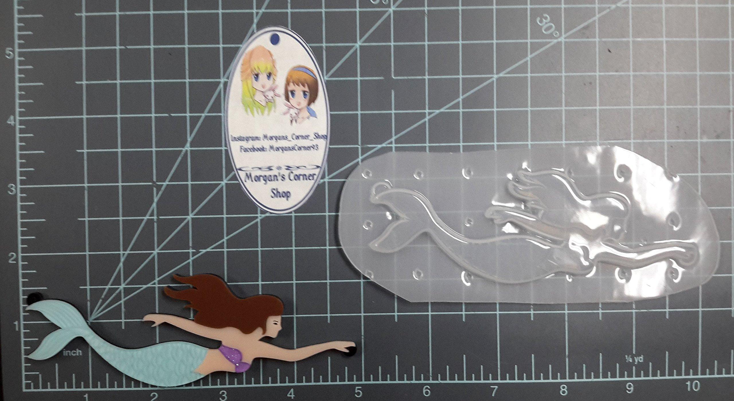 Swimming Mermaid Plastic Mold, Resin Mold, Soap Mold, clay mold, candle mold, mermaid mold, jewelry mold, resin jewelry
