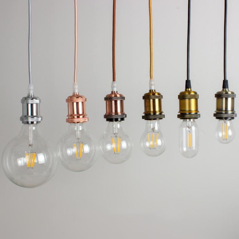 Edison retro led ceiling bulb holder aluminum pendant light base socket holder E27 large screw DIY accessories lamp holder