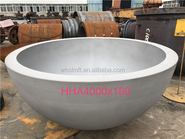 Claded Material Bottom Tank Spherical Bottom Hemispherical Bottom Dished Cap ends