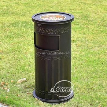 Cheap Outdoor Round Cast Aluminum Trash Bin/garden Decorative Garbage Can -  Buy Empty Aluminum Dust Bin,Unique Trash Bin,Decorative Outdoor Metal Trash  Bin ... - Cheap Outdoor Round Cast Aluminum Trash Bin/garden Decorative