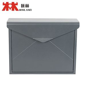 Modern top opening stainless steel mailbox and stands Mailboxes