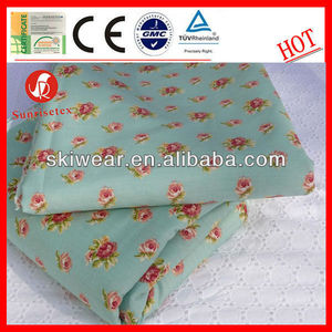 100% Cotton Rose Print Fabric for Bed Sheet