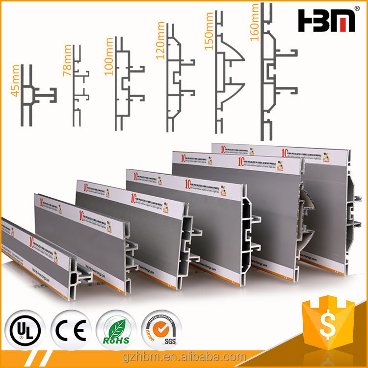 SEG fabric tension frame backwall stand exhibition display system