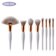New low MOQ cosmetic brushes tools kit custom logo 8pcs make up brush,unique private label makeup brushes