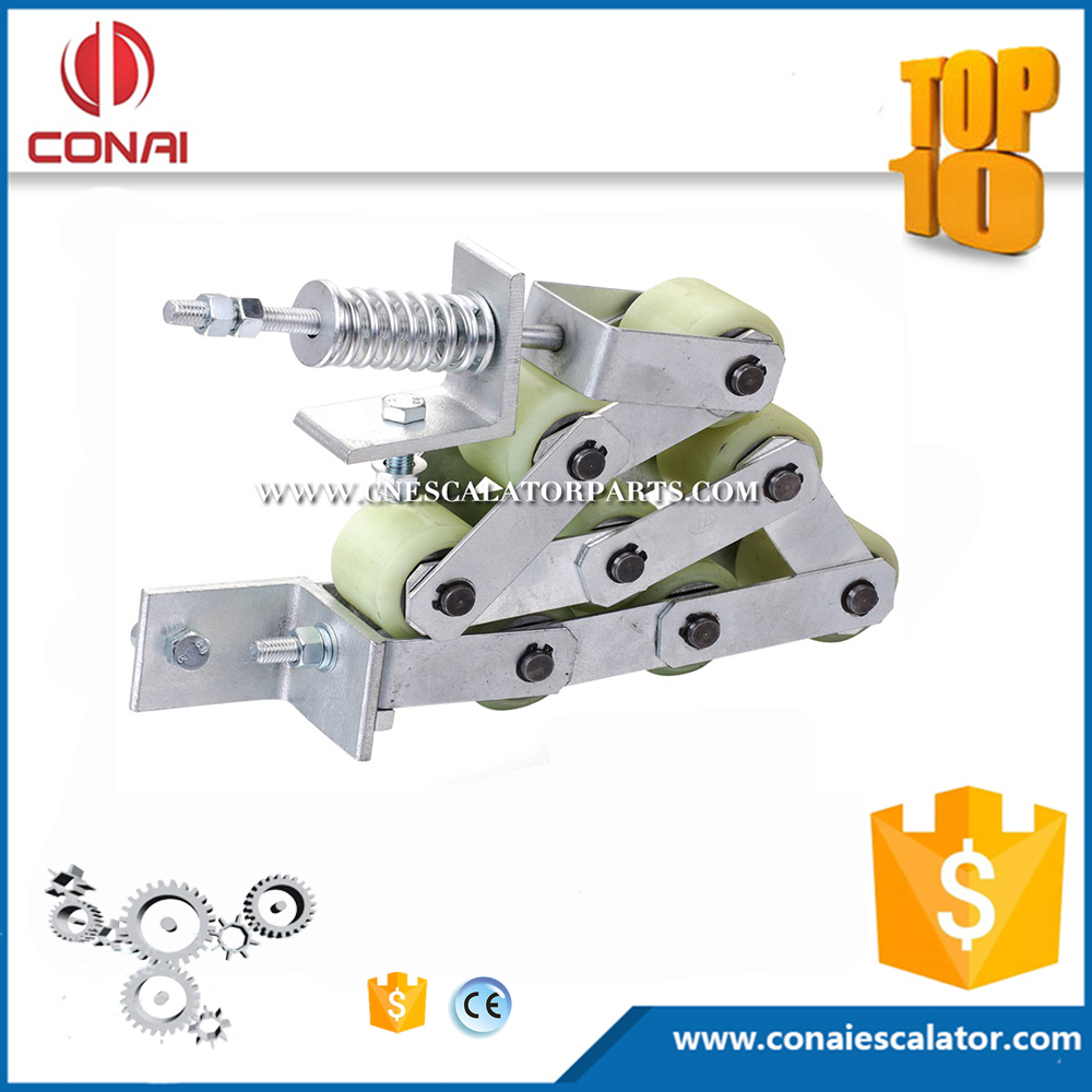 CNHC-017 escalator handrail pressure chain with 8 60x55mm rollers