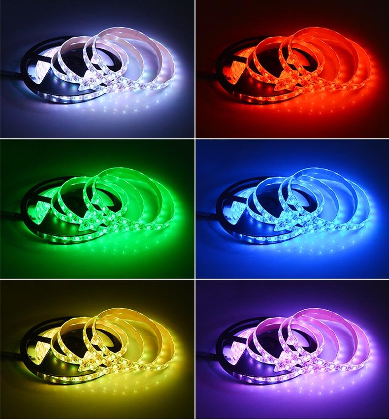 広く ledstrip usb テレビバックライト 5 ボルト rgb led ストリップ工場価格
