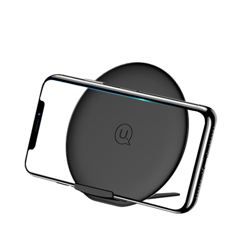 USAMS US-CD33 10W Fast Charging Pad with Foldable Stand Wireless Mobile Phone Charger фото