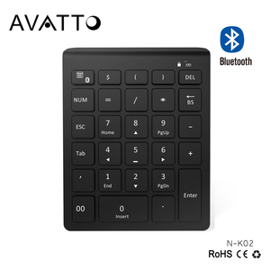 2018 Newest 28 Keys Scissor Switch Ultra Slim Bluetooth 3.0 Wireless Numeric Keypad for Bank Office Accountant Cashier