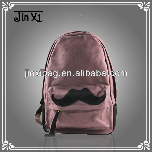 Durable clown school backpack with funny beard