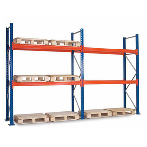 Heavy duty pallet racking and tire rack storage system wooden shelf