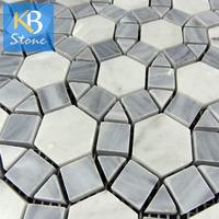 Italy Grey Polished vitreous glass mosaic tiles