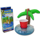 cheap price pvc inflatable floating palm tree beer can holder