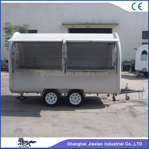 JX-FR350WW Heavy Duty Market Stall/van/truck Mobile Catering Food Trailer for sale