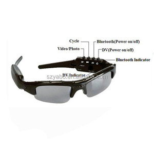 High quality 720p mini hidden camera sunglasses bluetooth video recorder sunglasses camera for mobile phone