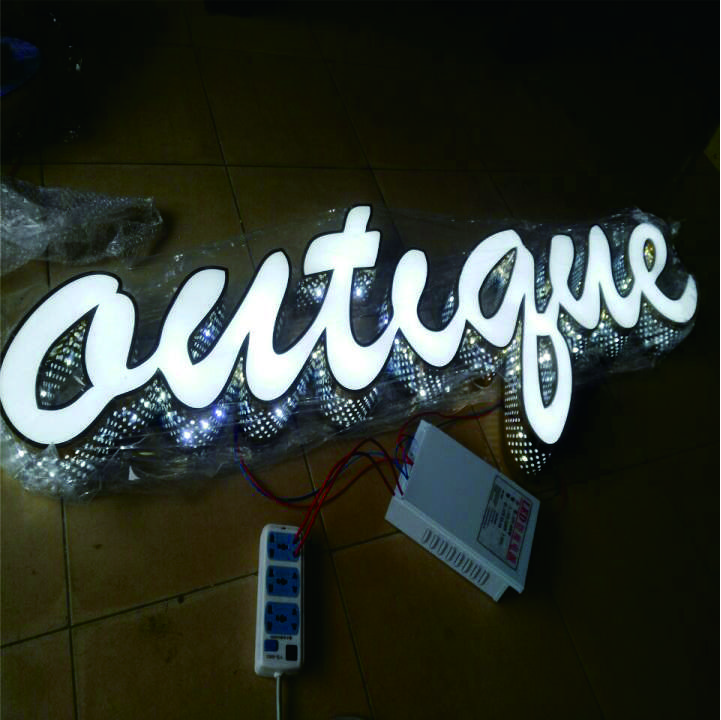 Customized Vintage Metal Marquee Sign letters LED Light up letters night light for store decoration