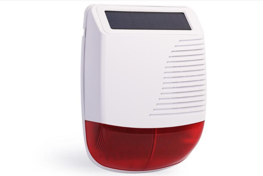 ไร้สายพลังงานแสงอาทิตย์ siren ไซเรนไร้สายใช้กับระบบมากกว่า 110db very noisy