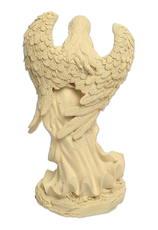 Angelstar Angel of Courage Keepsake Figurine, 8-1/2-Inch, Bottom of Figurine Has Area to Hold Keepsakes, 3 Cubic Inch Space