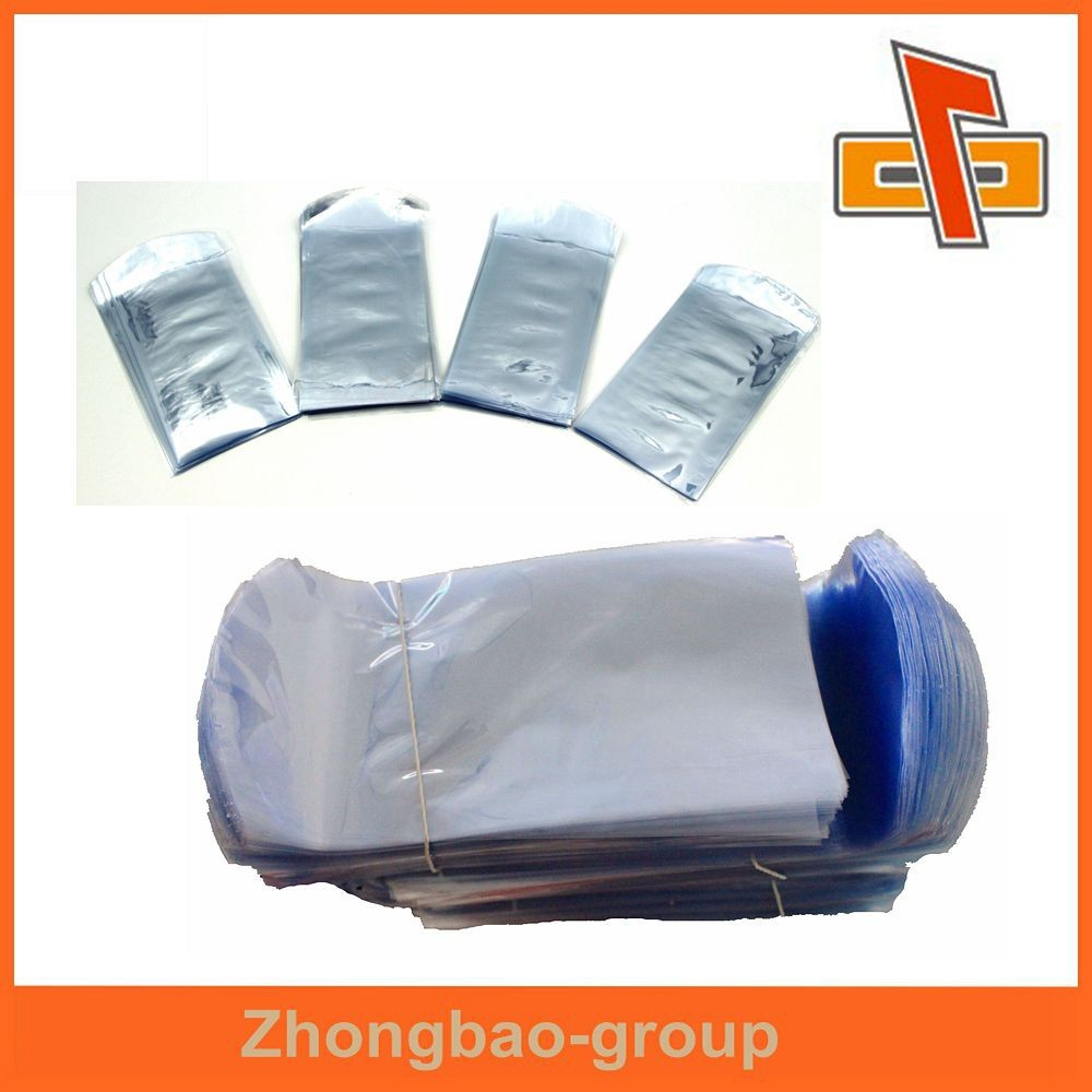 Top quality PVC film blue bag clear shrink wrap bag for box packing