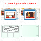 custom laptop skins making system for any laptop skins