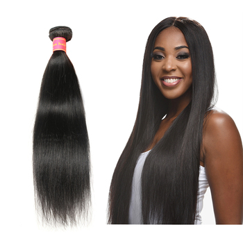 Factory Wholesale 100% Cuticle Aligned Human Hair Weave Bundle Straight Unprocessed Weft Remy Brazilian VirginHair Natural Black