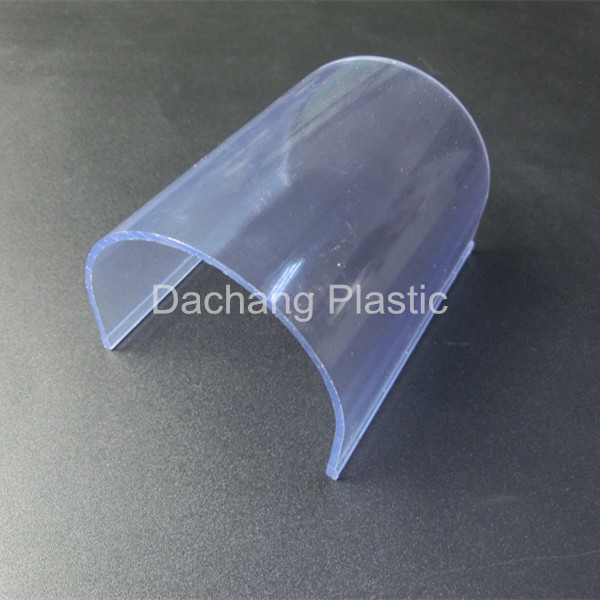 U shape transparent PVC profile