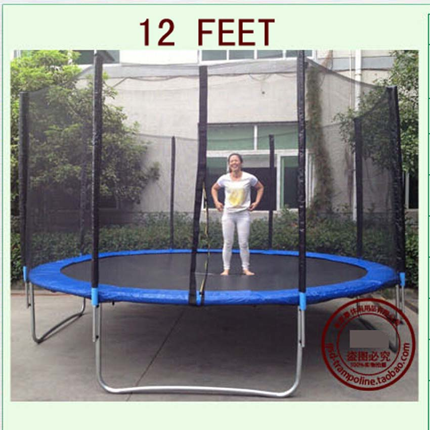 12 Foot Trampoline Mat And Springs: High Quality 12 Feet Trampoline With Enclosure Net And