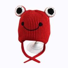 Winter Warm <span class=keywords><strong>Baby</strong></span> en Peuter Jongens of Meisjes Kikker Kids Winter <span class=keywords><strong>Beanie</strong></span> Hoed