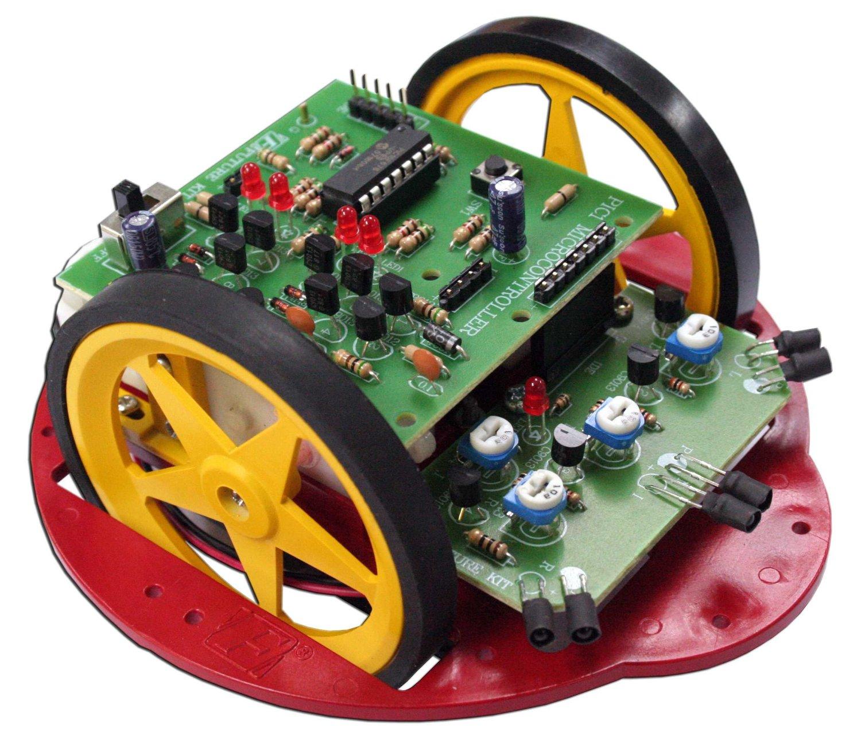 PIC ELECTRONIC OBSTACLE-AVOIDING Robot 3 Sensor 16F630 Assembled Kit