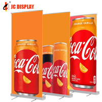Portable Retractable Plastic Roll Up Banner Stand